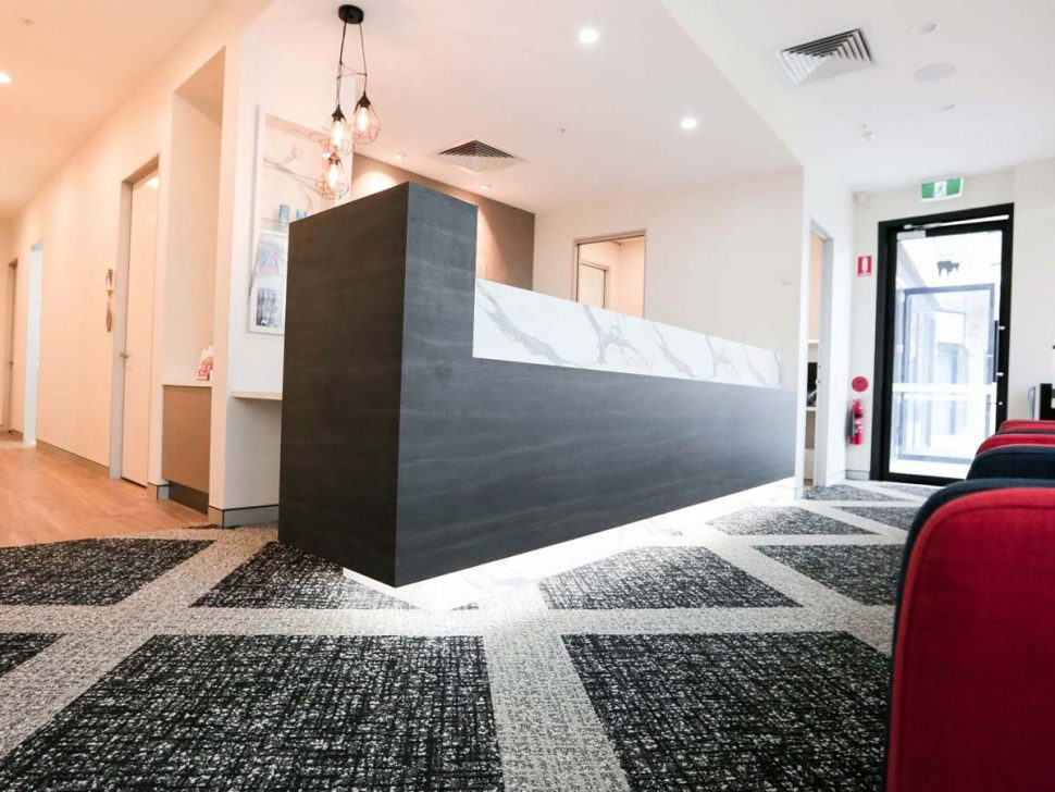 Absolute Dental Care Taringa Fitout Case Study Reception
