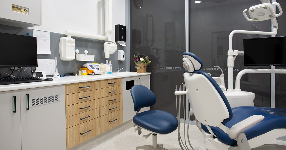 victoria point family dental, fit out, dental fit out